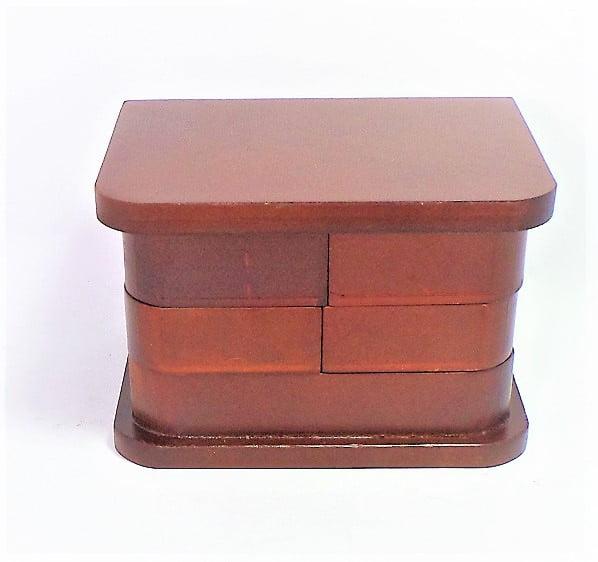 Wooden Jewelry Box in Mahogany Finish