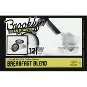 Brooklyn Bean Roastery Breakfast Blend Coffee K-Cups, 12 count, (Pack of 6)