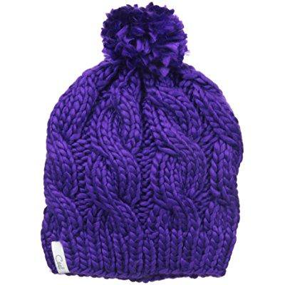 b7562b97a98 coal - coal women s the rosa chunky cable pattern beanie with pom ...