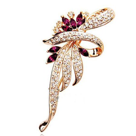 Fancyleo Crystal Brooch,Dress Jewelry,Themed Brooch Pin Clothes Dress Scarf Decoration,Boutonniere