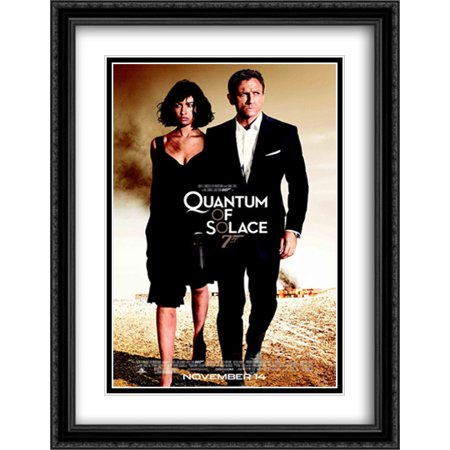 James Bond 007 Quantum of Solace 28x36 Double Matted Large Black Ornate Framed Movie Poster Art (007 James Bond Quantum Of Solace Pc)