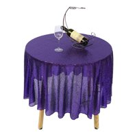 On Clearance 47'' Round Sequin TableCloth Cover for Wedding Party Cake Dessert Table Exhibition Events Banquet Decor