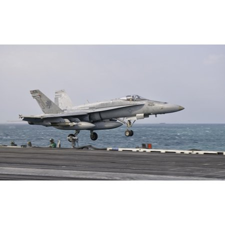 An Fa 18C Hornet Taking Off From The Flight Deck Of Uss George Hw Bush Canvas Art   Giovanni Collastocktrek Images  36 X 22