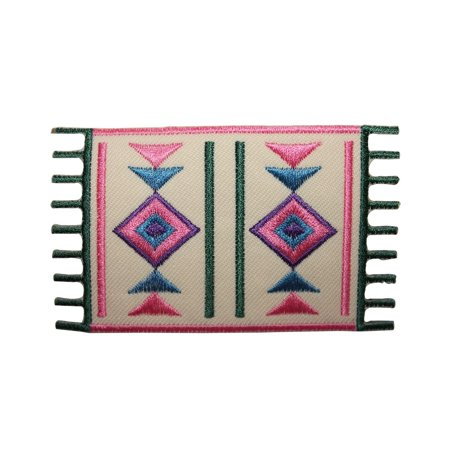 ID 8793 Western Mexican Rug Patch Floor Poncho Sew Embroidered Iron On Applique