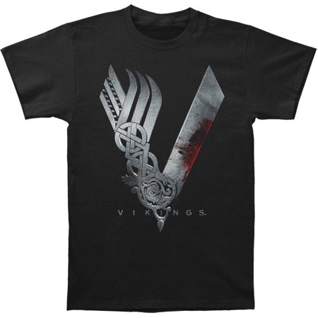 Vikings Men's  Logo T-shirt Black - Vikings Outfits