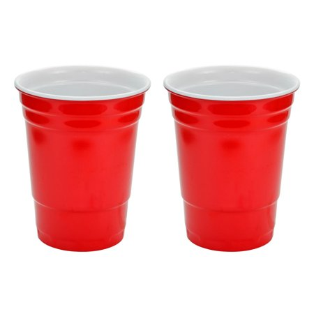 - Red Hard Plastic Cup 16oz - 2 Pack
