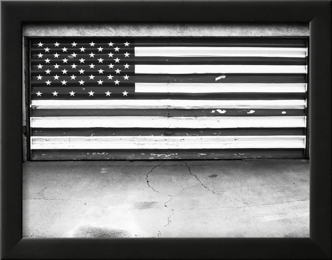 Patriotic American Flag Garage Door, Albuquerque, New Mexico, Black ...