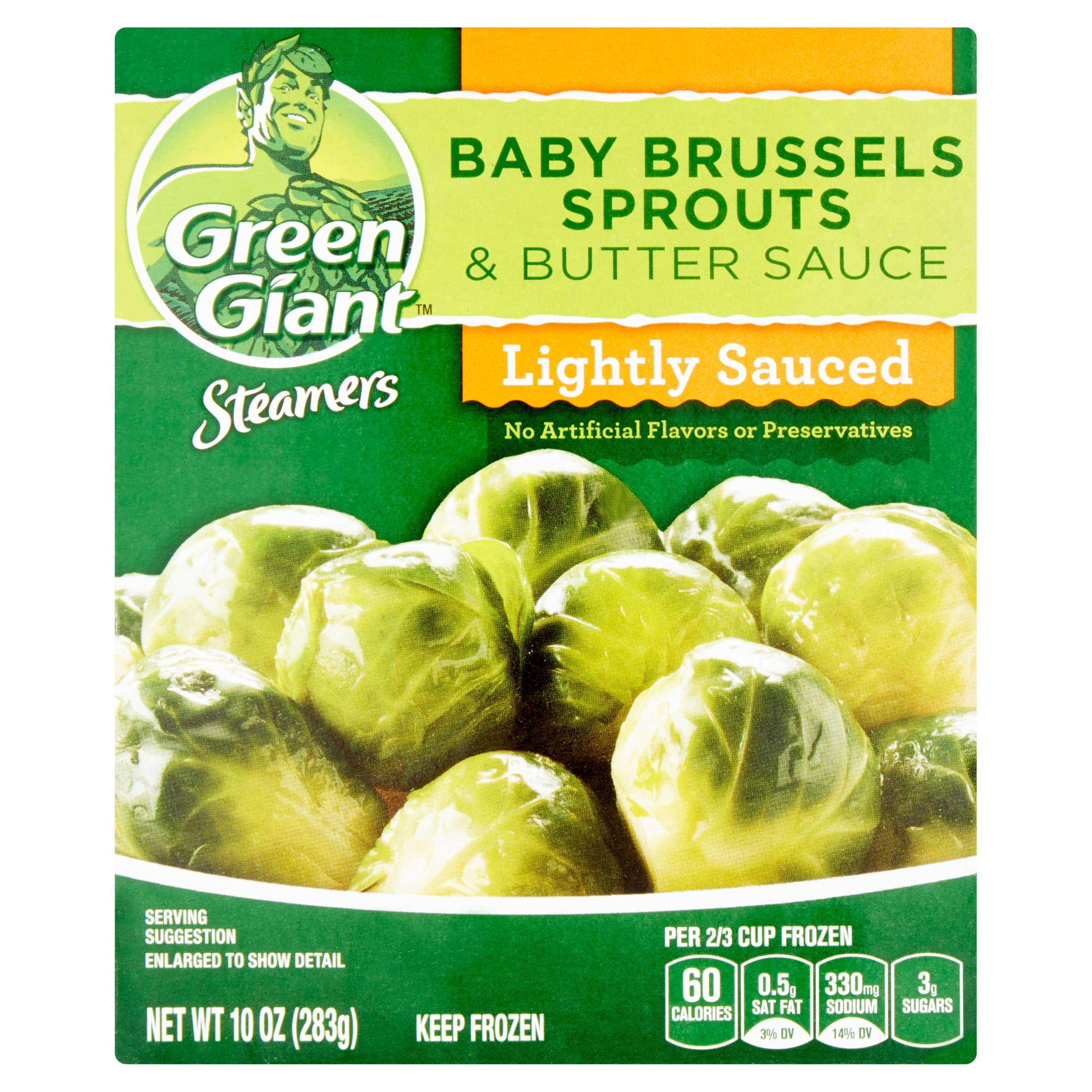 Green Giant Steamers Lightly Sauced Baby Brussels Sprouts & Butter Sauce, 10 oz
