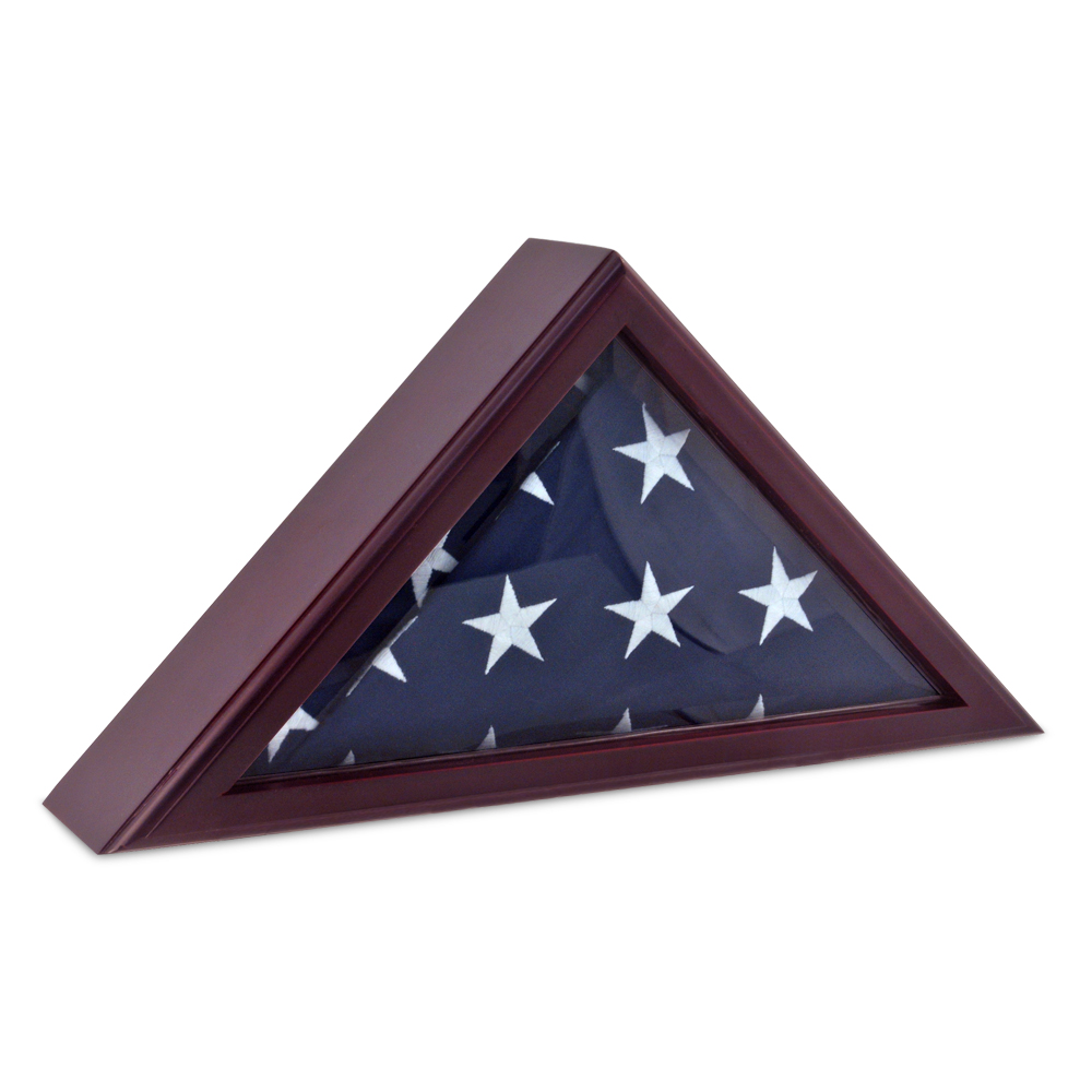 Cadet III Flag Display Case for 3ft x 5ft flag-Cherry