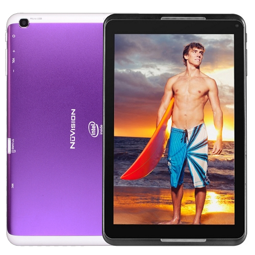 "NuVision TM800A510L 8"" Intel Atom Quad-Core 16GB Android 4.4 Wi-Fi Tablet-Purple"