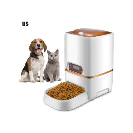6l automatic pet feeder food dispenser for cat dog timer