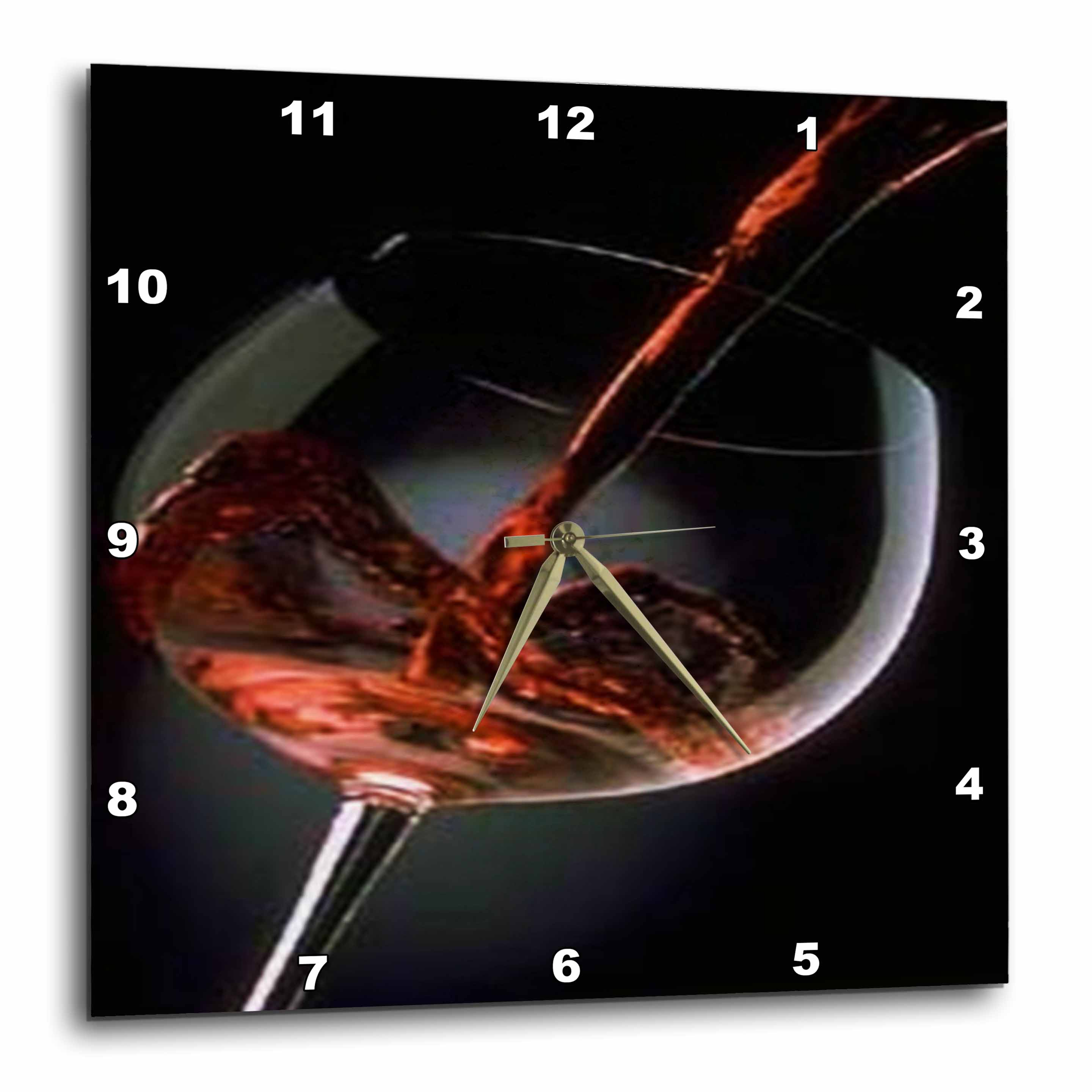 3dRose Pour A Glass Of Red Wine, Wall Clock, 13 by 13-inch