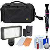 Pro Series Camera Bag - Zuma EC8188 Easy Bag Pro Series Camera / Camcorder Case with LED Video Light + Cleaning Kit