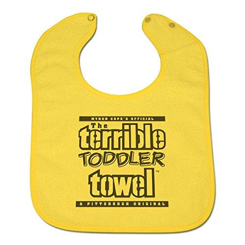 Little Earth Pittsburgh Steelers Terrible Towel Baby Bib