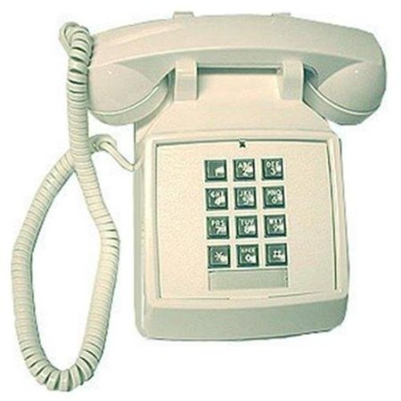 Basic Corded Telephone - Cortelco 2500-20m Basic Standard Phone - White - Corded - 1 X Phone Line - Yes (2500-v-wh)