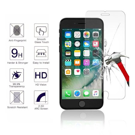 best website 9f220 826ef iPhone 8 Plus Screen Protector Glass, Njjex Tempered Glass Screen Protector  For Apple iPhone 8 Plus [5.5