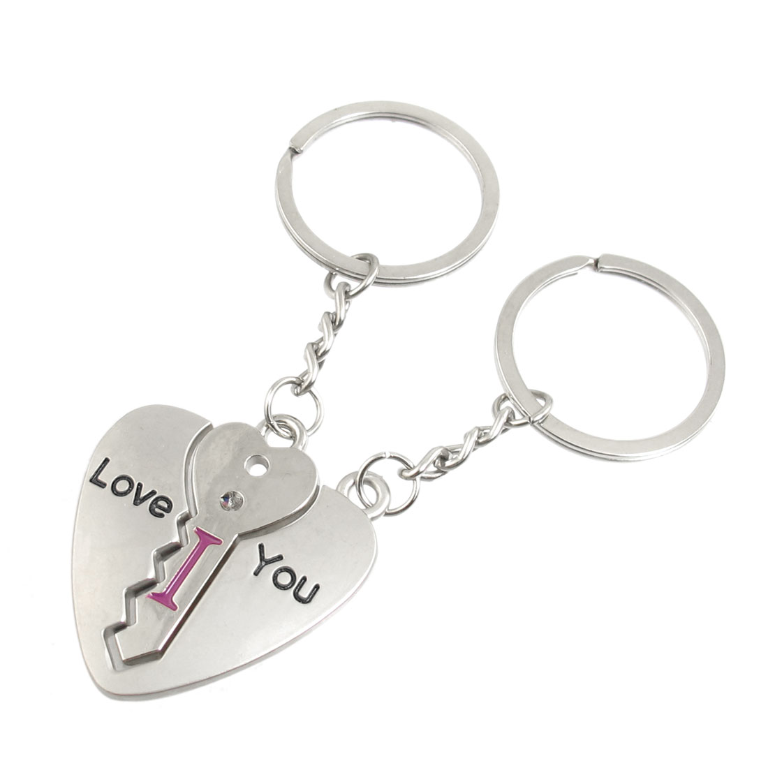 Httpwww Overlordsofchaos Comhtmlorigin Of The Word Jew Html: Lovers Couple I LOVE YOU Key Through Heart Keychain