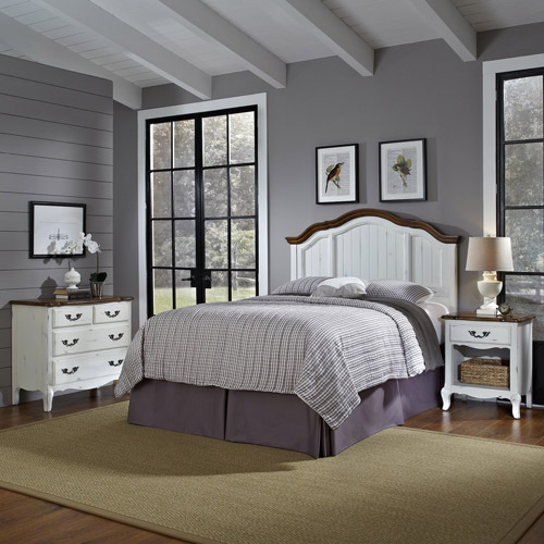 The French Countryside King/California King Headboard, Nightstand and Chest