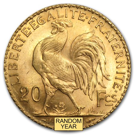 1899-1914 France Gold 20 Francs Rooster BU ()