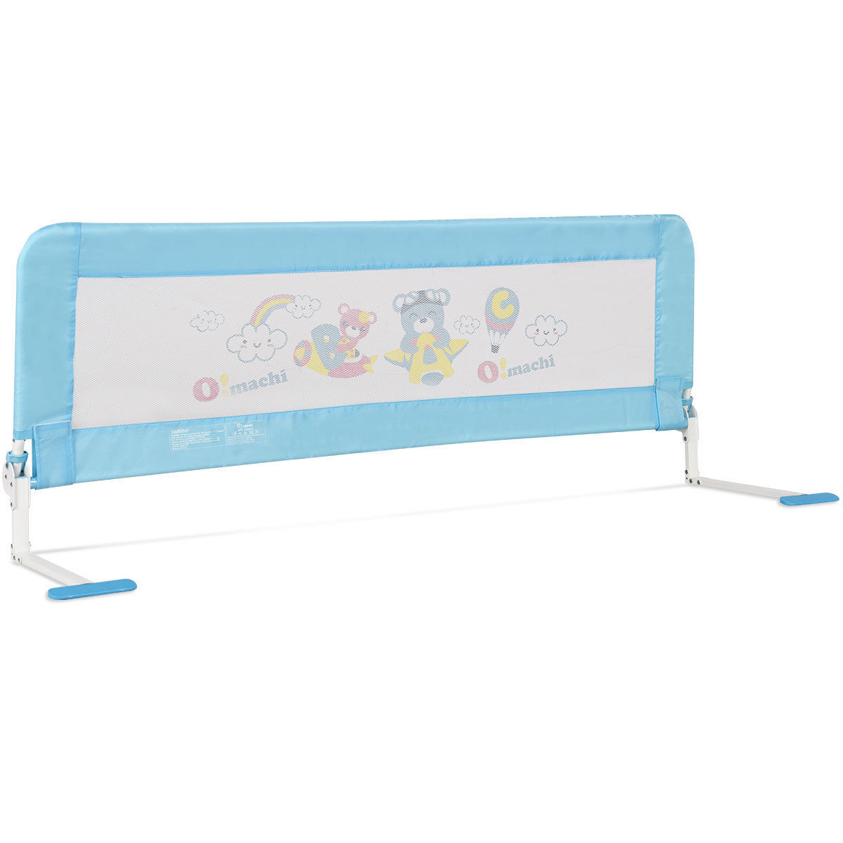 Gymax 59'' Breathable Baby Children Toddlers Bed Rail Guard Safety Swing Down Foamed by Gymax