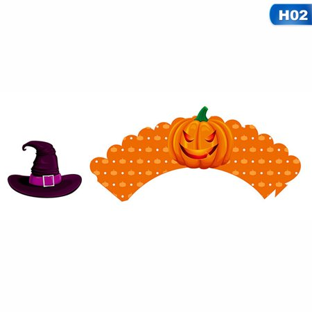 Laboratory Halloween Party (TURNTABLE LAB 12PC/Set Halloween Theme Cupcake Toppers Party Multi-style DIY)