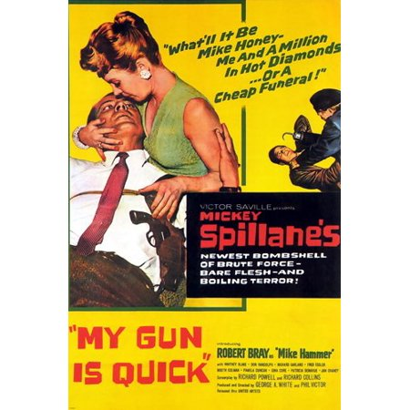Mickey Spillane'S My Gun Is Quick Film Noir Movie Poster New Terror 24X36 - Halloween A Noite De Terror