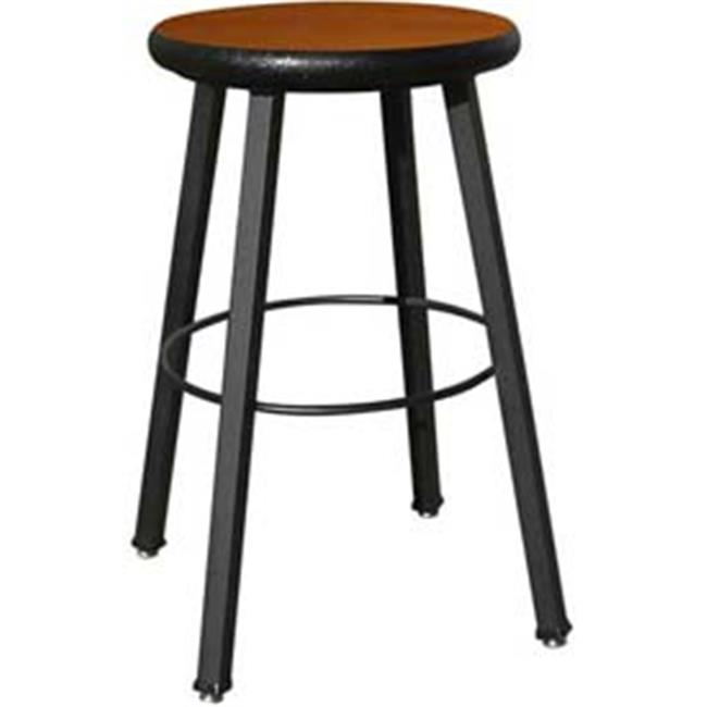 National School Lines QSSTL7186-AJ-AA 24 inch Fixed Four-Legged Square Tube Fully Welded Stool, Wild Cherry Laminate -