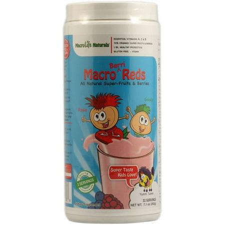 MacroLife Naturals Macro berri Reds Superfood for Kids, 7.1 Oz