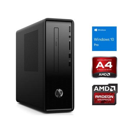 HP Slimline 290 Desktop, AMD A4-A4-9125 Upto 2.6GHz, 4GB RAM, 128GB NVMe SSD + 1TB HDD, DVDRW, HDMI, VGA, Card Reader, Wi-Fi, Bluetooth, Windows 10 Pro -  290SFFA4912-4128n1P