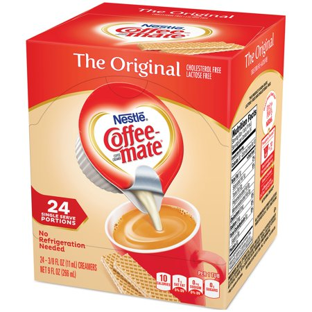 (4 Pack) Nestle Coffee-mate The Original Liquid Coffee Creamer 24 ct Tubs