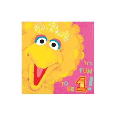 Sesame Street 36 Ct Lunch Napkins Value Pack 1st Birthday Big