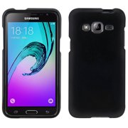 BLACK RUBBERIZED HARD PROTECTOR CASE COVER FOR AT&T SAMSUNG GALAXY EXPRESS PRIME SM-J320A