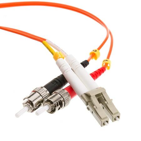 Offex Fiber Optic Cable, LC / ST, Multimode, Duplex, 50/125, 2 meter (6.6 foot) 125um Duplex Multimode 2 Meters
