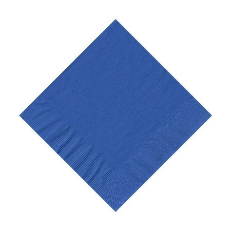 50 Plain Solid Colors Beverage Cocktail Napkins Paper - Royal Blue