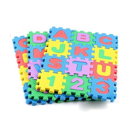 Learning Alphabet Mats (Mini 36Pcs Alphabet Numeral Foam Mat Education Toys Developmental Intelligence Toy for Kids Puzzle Educational Learning Toy Growing Experiment Gift Toy Pretend Toy Toddlers Toy (Multicolor))
