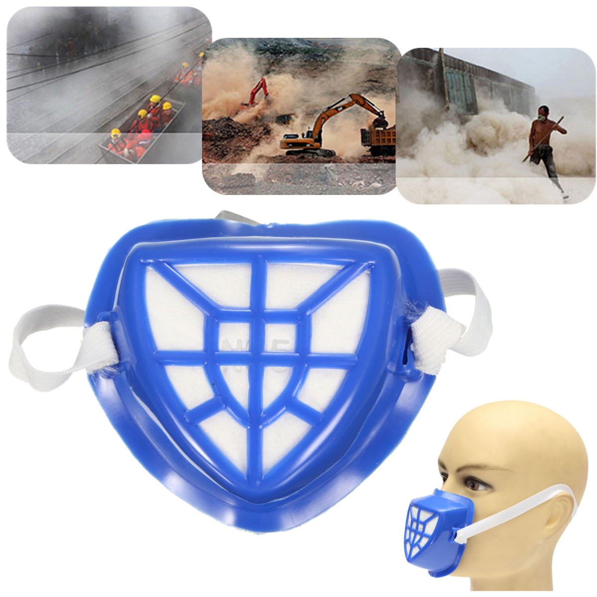 Anti-Dust Respirator Welder Welding Painting Spraying Cartridge Face Gas Mask by