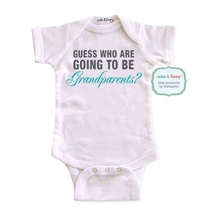 cute funny guess who are going to be grandparents surprise baby