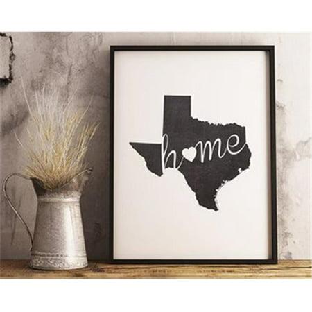 All My Walls TEX00002 My Home Texas Metal Wall Art, Silver&#44 ...