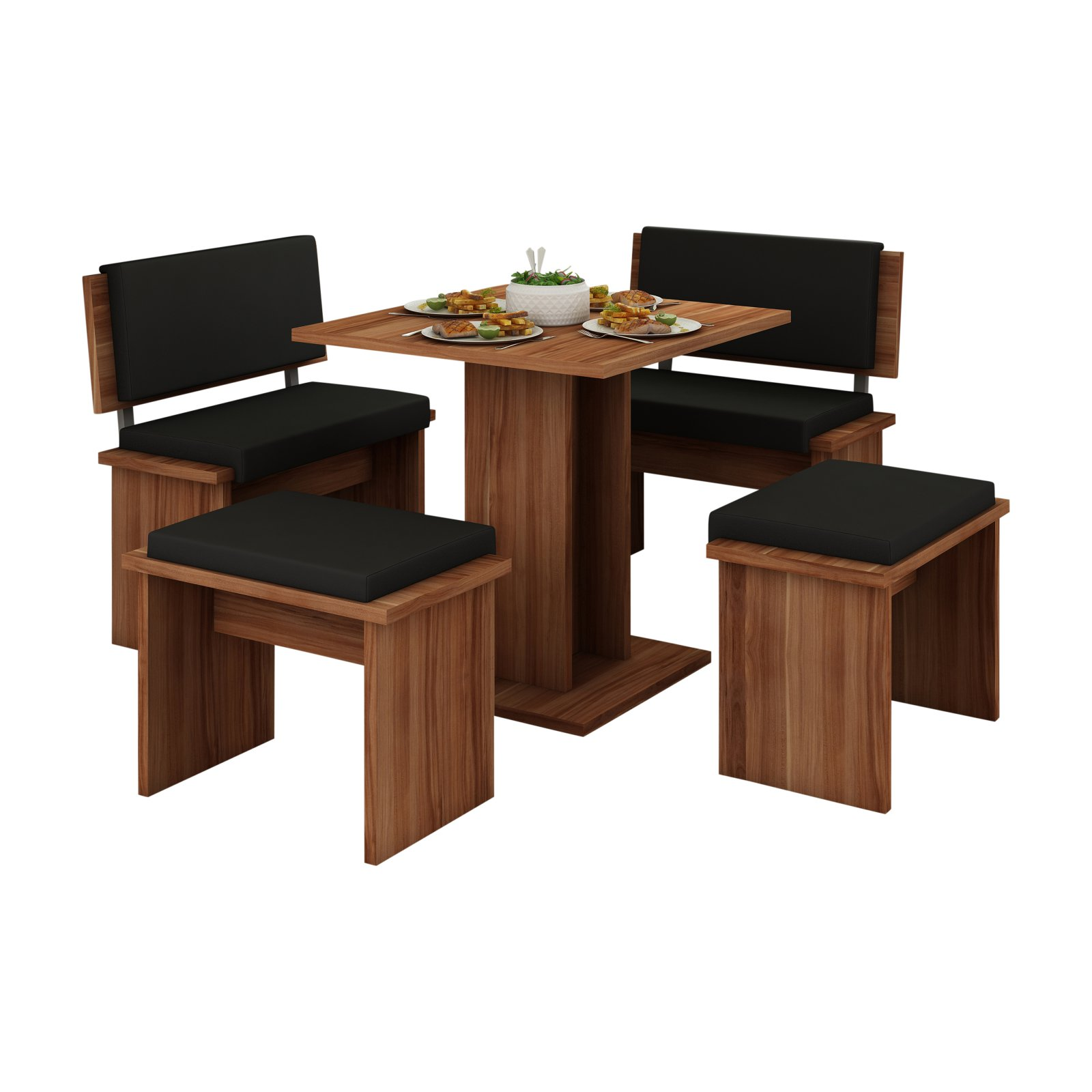 Furniture.Agency Bond 5 Piece Dining Table Set