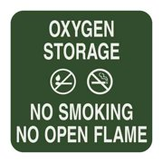 SIGN COMPLY 42297-9 FOREST GREEN No Smoking Sign