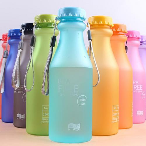 Noroomaknet 18 OZ Plastic Water Bottle Portable Leak-proof Bike Sports Water Bottle