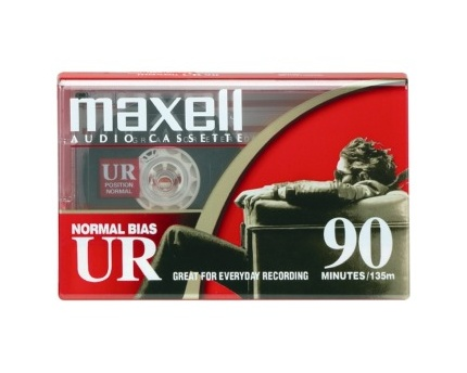 Maxell UR-90 Blank Audio Cassette Tape 100 Pack by Maxell