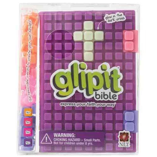 Holy Bible: New Living Translation, Purple, Silicone, Glipit