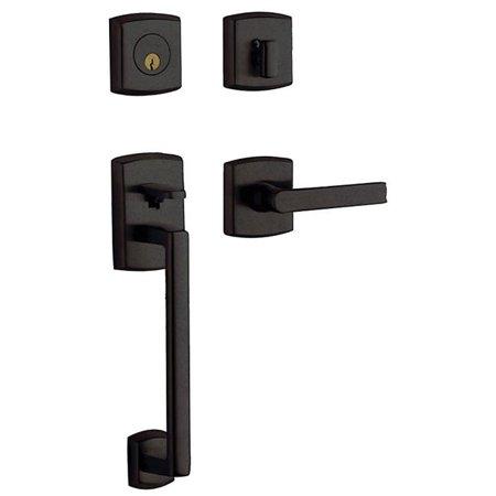 Cylinder Sectional Entrance Set (Baldwin 85386402LENT Single Cylinder Soho Sectional Left Entrance - Distressed Oil Rubbed Bronze )