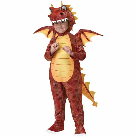 Fire Breathing Dragon Toddler Halloween Costume, Size 3T-4T - Toddler Halloween Costumes