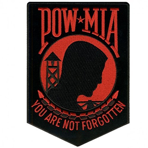 "POW MIA /""You are not Forgotten/"" embroidered iron on patch 3/"""