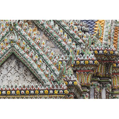 Thailand, Bangkok, Grand Palace. Ornate details of a temple in the compound. Print Wall Art By Brenda