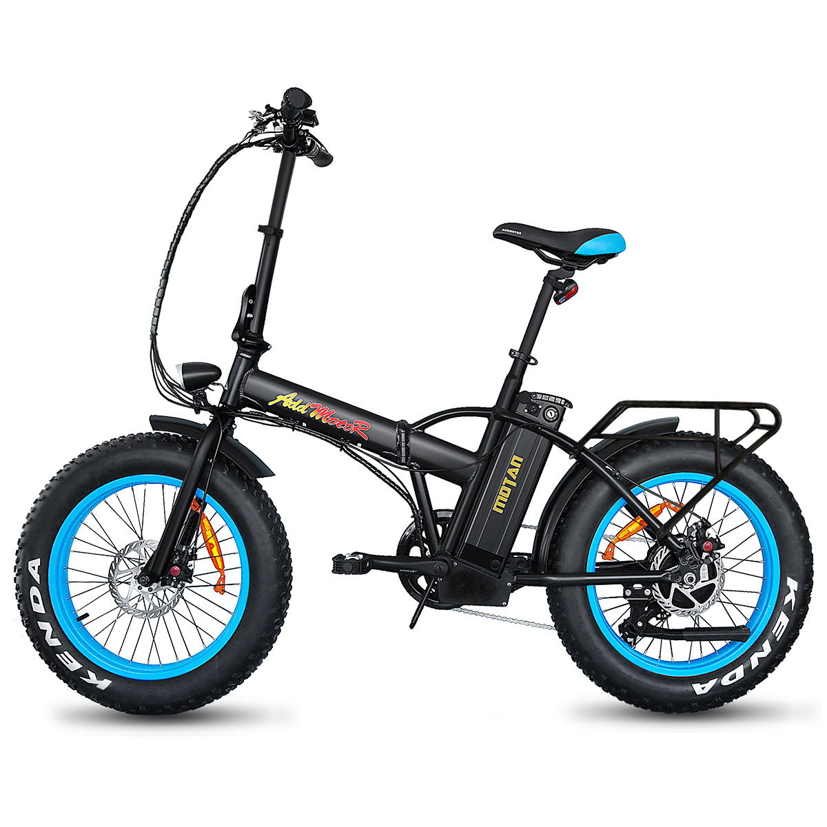 Addmotor MOTAN Electric Bike Bicycles Folding 20in Fat Tire E-Bikes 500W 48V Mountain Snow Bikes M-150 Collapsible Bike