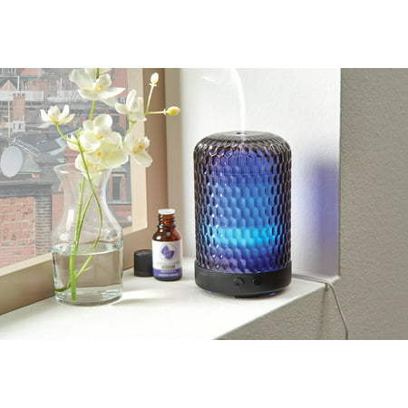 Better Homes & Gardens 100 mL Hammered Glass Cool Mist Ultrasonic Aroma Diffuser