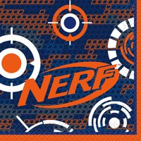 Nerf Party Paper Beverage Napkins, 5 in, 16ct